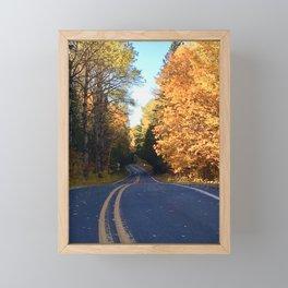 A Fall Drive Framed Mini Art Print