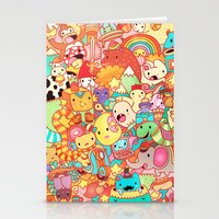 kpop Stationery Cards featuring Wackoblast! by Sillyrabs