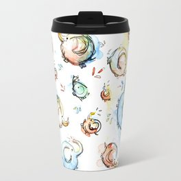 Elephants Pattern Watercolor Whimsical Animals Travel Mug