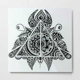 Deathly Hallows symbol Metal Print