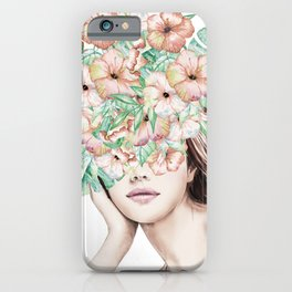 She Wore Flowers in Her Hair Island Dreams iPhone Case