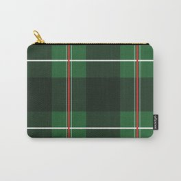 Green, Black and Red Striped Plaid Carry-All Pouch