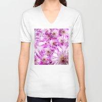 dahlia V-neck T-shirts featuring Dahlia ## by the artist JC LOGAN