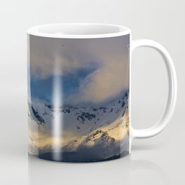 Snowy mountains. Tajos de la Virgen at sunset. 3.242 meters Coffee Mug