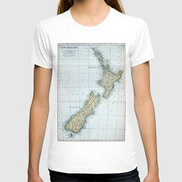Vintage Map of New Zealand (1921) T-shirt