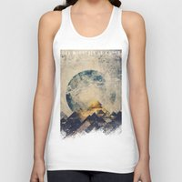 aqua Tank Tops featuring One mountain at a time by HappyMelvin