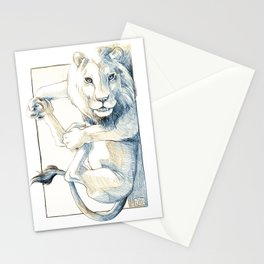 Playful Lion Stationery Cards