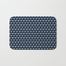 Faux Midnight Leather Buttoned Bath Mat