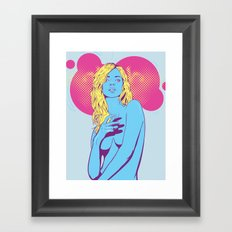 Gangster Kate Moss Framed Art Print