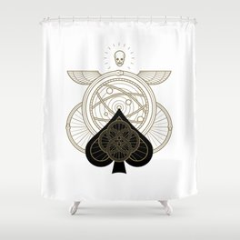 Omnia Oscura Ace of Spades Shower Curtain