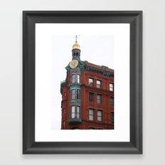 Red in sight Framed Art Print