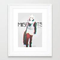 misfits Framed Art Prints featuring Misfits by SAH.