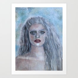 Portrait of a French Mermaid Art Print