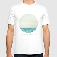 Salt Water Cure White Mens Fitted Tee MEDIUM