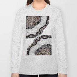 Yin Yang Agate Glitter Glam #2 #gem #decor #art #society6 Long Sleeve T-shirt