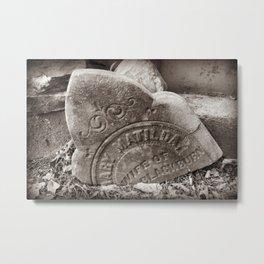 Mary Matilda Tombstone (Wife of Blackburn) NC Graveyard Metal Print