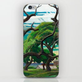 Franklin Carmichael - Old Orchard - Canada, Canadian Watercolor Painting - Group of Seven iPhone Skin