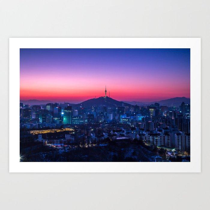 Twilight Seoul Art Print