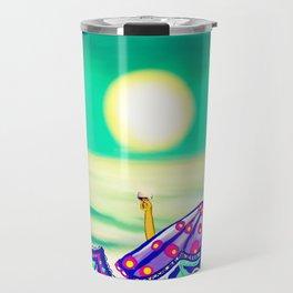 Sea Glass Cheers! Travel Mug