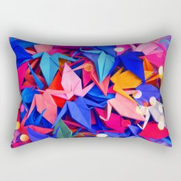 Senbazuru | pink and blues Rectangular Pillow
