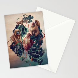 monkey temple Stationery Cards