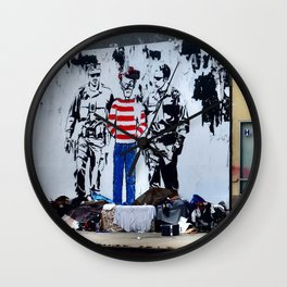 Oh Crap, There's Waldo Wall Clock