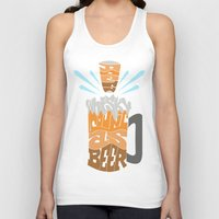 homer Tank Tops featuring DoesBeerCountAsWhiskey?-Homer by PositiveFuture