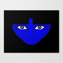 Ring Light Eyes Abstract Portrait Canvas Print
