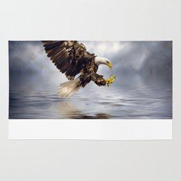 Young Bald Eagle Swooping Rug
