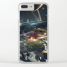 War battleship Clear iPhone Case