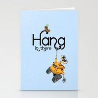 pixar Stationery Cards featuring Pixar/Disney Wall-e Hang in There by Teacuppiranha