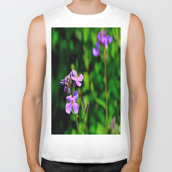 Springing Purple Biker Tank