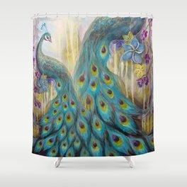 Jeweled Peacock Shower Curtain