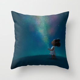 Wish Jar Throw Pillow