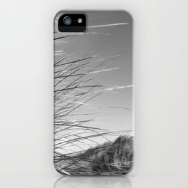Monochromatic Sand dunes at Fistral Beach. iPhone Case