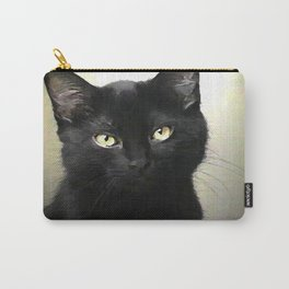 Swoozle's Black Cat in Repose Carry-All Pouch