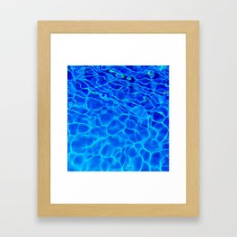Blue Water Abstract Framed Art Print