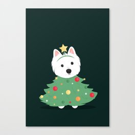 Merry westie Christmas! Canvas Print