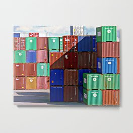 Colorful containers II Metal Print