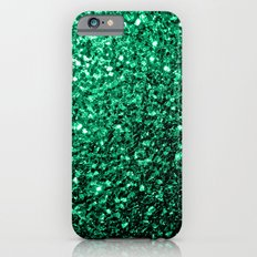 Beautiful Emerald Green glitter sparkles iPhone 6 Slim Case