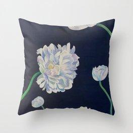 Chrysanthemum Stages Throw Pillow