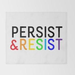Persist & Resist - Rainbow Throw Blanket