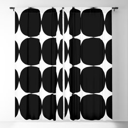 Retro '50s Shapes in Black and White Blackout Curtain