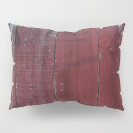 Red Wood Pillow Sham