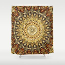 Flower Of Life Mandala (Nature's Enthusiasm) Shower Curtain
