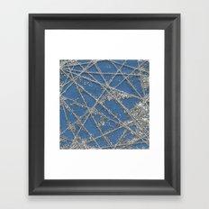 Sparkle Net Blue Framed Art Print