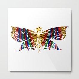 Animalia : Butterfly Woman Metal Print