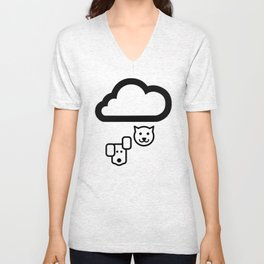 Forecast Cats & Dogs  Unisex V-Neck