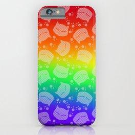 Rainbow Meows (white version)  iPhone Case