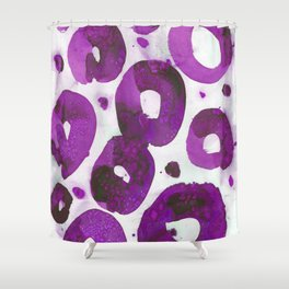 Fuschia pink connected rings. Shower Curtain